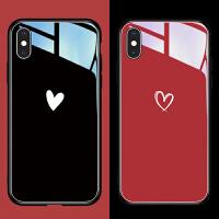 苹果x手机壳iphonexr潮xsmax玻璃iphone11pro红色8plus新款情侣6s防摔iphonex网红同款