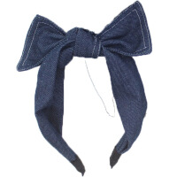 新款儿童发饰女童发箍牛仔布蝴蝶结头箍