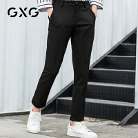 GXG男装 冬季黑色裤长裤韩版潮流西装裤小脚裤#182202259