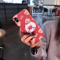 苹果x手机壳iphone7plus可爱苹果8plus苹果6s卡通苹果Xs max硅胶6spl 苹果X 发财小猪
