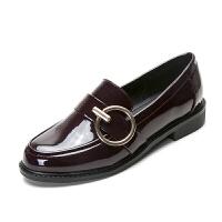 英伦风女鞋子春季新款单鞋平底软妹小皮鞋韩版鞋女潮