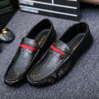 小白鞋夏季豆豆鞋男士韩版潮流社会鞋子百搭休闲皮鞋驾车