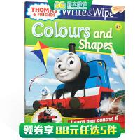 顺丰包邮 英文原版进口 【可擦写】托马斯和朋友们系列Thomas Wipe & Write Colours and S