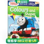 顺丰发货 英文原版进口 【可擦写】托马斯和朋友们系列Thomas Wipe & Write Colours and S