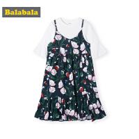 巴拉巴拉儿童连衣裙女童裙子春季2019新款童装中大童长袖吊带韩版