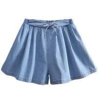 女童牛仔短裤子宽松中大童女孩外穿夏装
