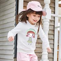 女童春秋卫衣女宝宝长袖上衣春装儿童洋气外套潮