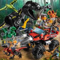 �犯呋�木男孩子恐龙系列侏罗纪3拼装儿童6世界玩具公园12岁模型