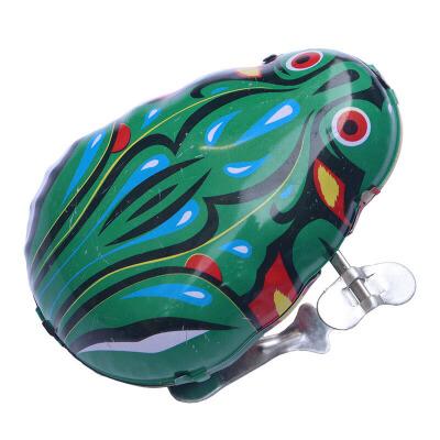 铁皮青蛙发条抖音玩具上链跳跳蛙儿童小玩具80后怀旧上弦动物创意小礼品 铁片青蛙 标价为一个价