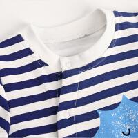 婴儿连体衣长袖春秋季 宝宝哈衣爬爬服 新生儿衣服