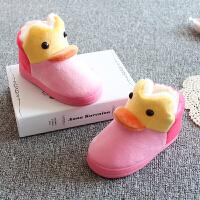 宝宝拖鞋家居秋冬1-3岁防滑带后跟小童棉拖鞋男女1一3岁婴幼儿童