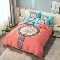 秋冬床上用品四件套磨毛1.5米三件套简约2.0被套床单1.8mY