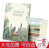 笔记本子记事本创意学生用大号b5车线本文具韩国小清新简约16k厚