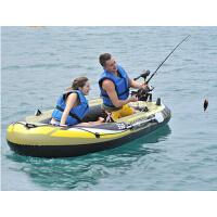 户外水上运动多人钓鱼船 时尚舒适豪华充气船2/3/4人船艇
