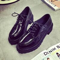 些久春秋休闲小皮鞋学院风黑色小香单鞋潮学生时尚女鞋