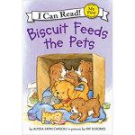 Biscuit Feeds the Pets饼干狗喂宠物 英文原版,Alyssa Satin Capucilli,Pa