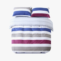当当优品磨毛四件套 纯棉加厚磨毛保暖床品 双人加大床单四件套 纳瑞尔(红)