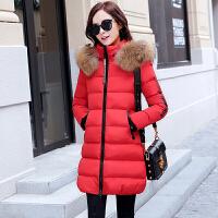 新年特惠棉衣中长款女士棉袄女装冬装新款2019新款女中长款修身毛领羽韩版冬季加厚棉袄外套