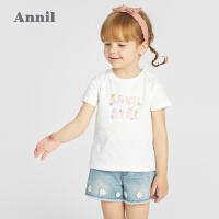 【抢购价:39.9】安奈儿童装女宝宝半袖1岁3夏装短袖纯棉t恤女童2021新品婴儿上衣