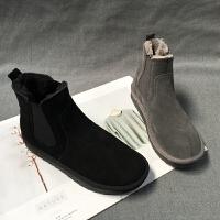 女鞋冬季新品套筒气质洋气百搭雪地靴个性茶歇牛皮女靴子