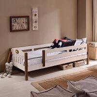 儿童家具实木儿童带栏板松木卧室小床阶梯小屋 1200mm*2000mm 不带