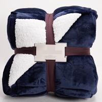 厚仿羊羔绒毛毯被子冬季盖毯加厚双层保暖法兰绒毯子单双人珊瑚绒y 220cmx240cm 8斤(双人)