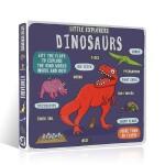 英文原版进口 小小探险家系列 Little Explorers Dinosaurs Novelty Book 恐龙科普