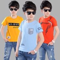 男童T恤短袖12男生11-13周岁7中大童9男孩半袖15小学生8夏装