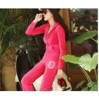 新款天鹅绒运动休闲套装  女韩版时尚大码气质女装潮