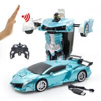 1:12感应遥控变形车金刚机器人充电无线赛车遥控汽车儿童玩具男孩礼物