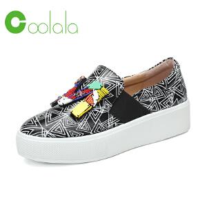 红蜻蜓旗下品牌COOLALA女鞋秋冬休闲鞋板鞋女鞋子HGB7010