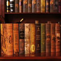 假书仿真书装饰品摆件餐厅咖啡厅客厅书架创意家居摆设复古装饰书