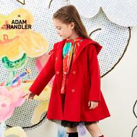 【1件秒杀价:640】马拉丁童装女大童大衣春装2020年新款红色新年装中长款外套