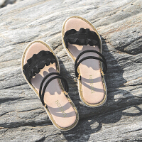 平底凉拖鞋女夏外穿时尚新款韩版学生两穿一字拖鞋女