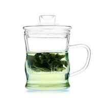 耐热玻璃杯 创意三件式泡茶杯 过滤带盖套装茶具 水杯 茶壶 花茶杯