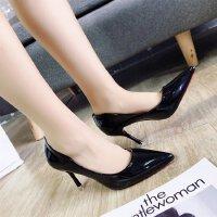高跟鞋女浅口细跟工作职业单鞋百搭女生黑色工作职业皮鞋5-7厘米