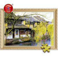 成人1000片木质拼图定制500国画风景油画装饰画 江南水乡