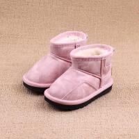 儿童鞋女童雪地靴男童女童靴子冬季加绒加厚保暖棉鞋防滑宝宝短靴