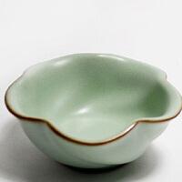 (PU RUN) 陶瓷故事 汝窑茶杯 开片品茗杯 哑光天青釉陶瓷杯