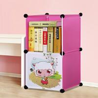 蜗家卡通书柜儿童书架自由组合玩具收纳柜简易储物置物架柜子