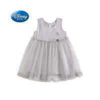 迪士尼女童夏连衣裙2020新款儿童洋气公主裙蕾丝裙子小女孩童装潮