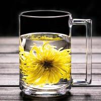 钢化玻璃杯耐热透明水杯办公室茶杯带把男女士家用泡茶水杯啤酒杯