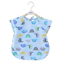 宝宝吃饭围兜婴儿罩衣儿童半袖围裙反穿衣罩衫防水画画衣