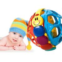 宝宝玩具婴幼儿儿童早教手抓摇铃响铃柔韧软球 爱因斯坦球