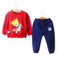 【抢购价:39元】棉果果童装男童套装女童春装儿童外出运动两件套 宝宝2021卫衣套装