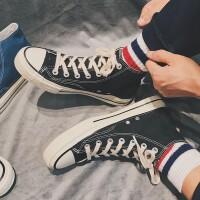 秋冬运动鞋日系情侣款男女高帮帆布鞋休闲鞋潮流百搭学生板鞋