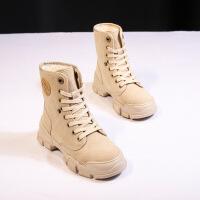 2019新款雪地靴女新款冬季潮百搭加绒中筒棉鞋韩版网红瘦瘦棉靴