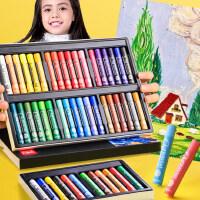 得力重彩油画棒24色专业级软性油性浓彩蜡笔套装美术学生绘画颜料棒安全无毒可水洗马卡龙色初学者专用刮刀