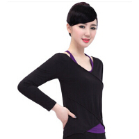 时尚两件套瑜伽服   新款长袖瑜伽服女   健身瑜珈服单上衣