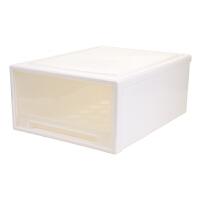 透明衣物整理箱衣服收纳柜大号塑料储物箱衣柜收纳盒 49L 48*45*22.5CM 1个装巨无霸